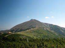 snezka 1602 m n пиковое Стоковая Фотография