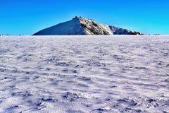 Snezka in den riesigen Bergen in der Tschechischen Republik lizenzfreie stockfotografie