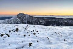 Snezka in Giant mountains Stock Photo