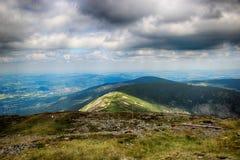 Snezka- Giant Mountains. Snezka Polish Śnieżka, German Schneekoppe is the highest mountain of the Krkonoše Mountains and the highest mountain of the Czech Royalty Free Stock Photo