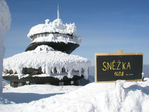 Snezka, höchster tschechischer Berg Lizenzfreie Stockfotografie