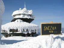 Snezka, hoogste Tsjechische berg Royalty-vrije Stock Fotografie
