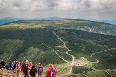 Snezka- jätteberg arkivfoto