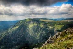 Snezka- Giant Mountains. Snezka Polish Śnieżka, German Schneekoppe is the highest mountain of the Krkonoše Mountains and the highest mountain of the Czech Stock Images