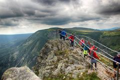 Snezka- Giant Mountains. Snezka Polish Śnieżka, German Schneekoppe is the highest mountain of the Krkonoše Mountains and the highest mountain of the Czech Stock Photos