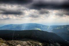 Snezka- Giant Mountains. Snezka Polish Śnieżka, German Schneekoppe is the highest mountain of the Krkonoše Mountains and the highest mountain of the Czech Stock Image