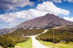 Snezka or Sniezka mountain peak Stock Images