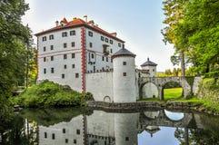 Sneznik slott Arkivfoton