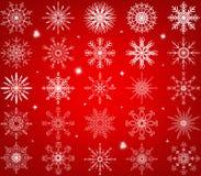 Snöflingavektoruppsättning Royaltyfri Fotografi