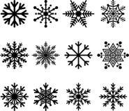 Snöflingor Arkivbild