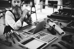 Snickare Occupation Skill Concept för kapacitetsaktivitetskarriär arkivfoton