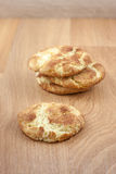 Snicker Doodle Cookies. A stack of snicker doodles on a wooden surface Stock Photos