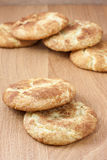 Snicker Doodle Cookies. A stack of snicker doodles on a wooden surface Stock Photo