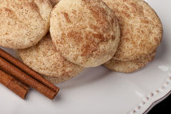 Snickerdoodle cookies top view Royalty Free Stock Photo