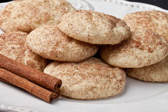 Snickerdoodle cookies on a vintage plate Stock Photo