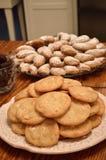 Snickerdoodle e cookies crescentes Imagem de Stock