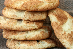 Snickerdoodles Cookies. Stack of Snickerdoodle Cookies Fresh from the Oven Royalty Free Stock Photography