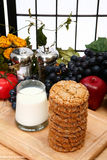 Snickerdoodles and Milk stock photos