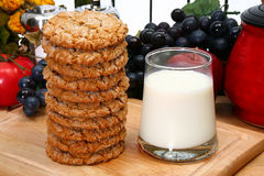 Snickerdoodles and Milk Royalty Free Stock Image