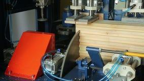 Snickeriföretag shoppar för att bearbeta av trä stock video