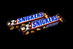 Snickers candy bar Stock Images