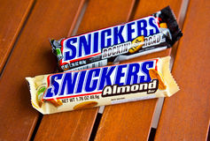 Snickers candy bars Stock Images