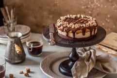 Snickers warstwy tort zdjęcia stock