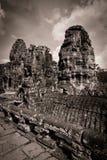 Snida av det Bayon tempelet på Angkor i Cambodja Royaltyfria Bilder
