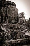 Snida av det Bayon tempelet på Angkor i Cambodja Royaltyfri Bild