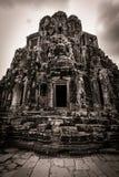 Snida av det Bayon tempelet på Angkor i Cambodja Royaltyfri Fotografi