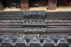 Snida av Hanuman Dhoka på den Katmandu Durbar fyrkanten Nepal Arkivbilder