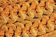 Snida av kungligt rusar in det nationella museet av kungliga pråm, Bangkok, Thailand arkivbild