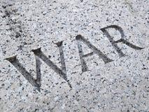 snida bokstäver kriga arkivfoto