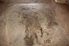 Snida för golv för Hampi Vittala tempelspiral blom- Royaltyfria Bilder