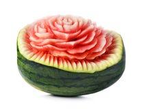 Snida för vattenmelon Arkivfoto