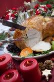 Snida grillade Turkiet för julmatställe Fotografering för Bildbyråer