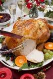 Snida grillade Turkiet för julmatställe Royaltyfria Foton