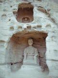 snida grottoes stena yungang Arkivfoton