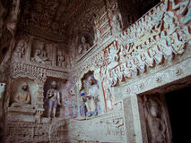 snida grottoes stena yungang Royaltyfria Foton