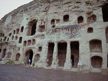 snida grottoes stena yungang Fotografering för Bildbyråer