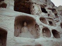 snida grottoes stena yungang Royaltyfri Fotografi