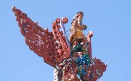snida maori trä Arkivbilder