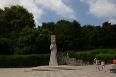 Snida- Nanjing Yuhuatai för sten monument Royaltyfri Foto