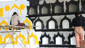 Snida och skulpturkyrkogård i Yangon Myanmar lager videofilmer