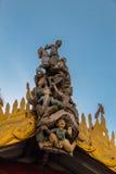 Snida på den Shwezigon pagoden, Bagan i Myanmar (Burmar) royaltyfria foton