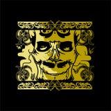 Snida skallen royaltyfri illustrationer