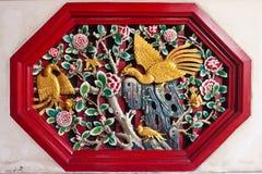 snida traditionellt trä för kinesisk stil Royaltyfria Foton