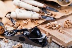 snida wood hjälpmedel arkivbilder
