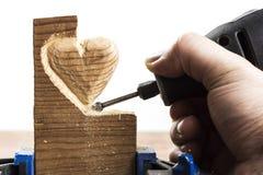Snida wood vit Arkivbild