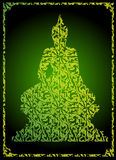 Sniden buddha thai stilvektor Arkivfoto